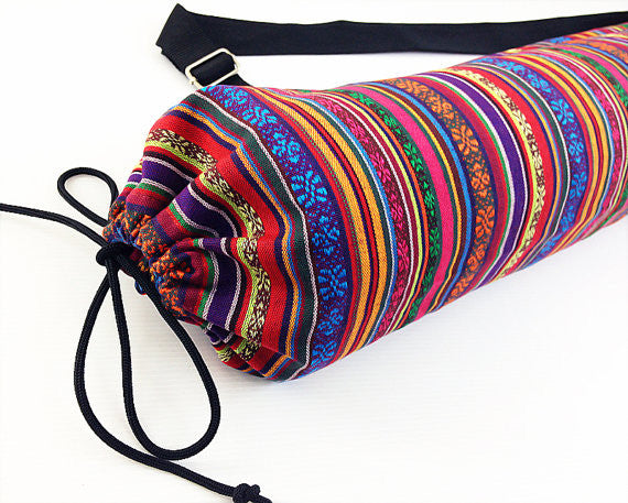 Thai Handmade Woven Yoga Mat Bag Sports Bags Pilates Mat Bag (FF6)