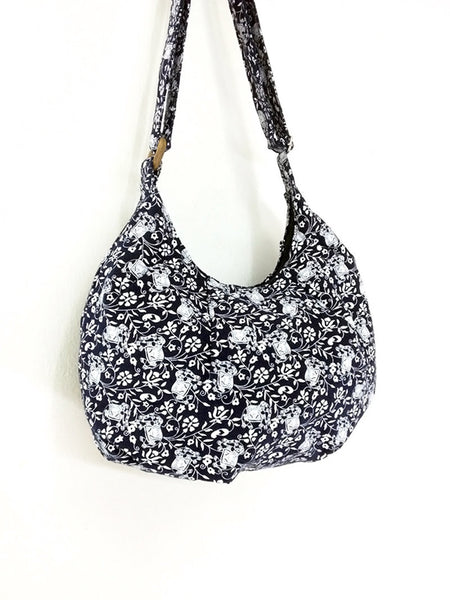 Cotton Handbags Elephant bag Hippie bag Hobo Boho bag Shoulder bag Tote bag Crossbody bag, VeradaShop, HaremPantsThai