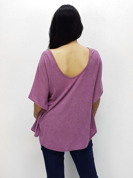 BF03 Blouses Boat Neck Off Shoulder Pink