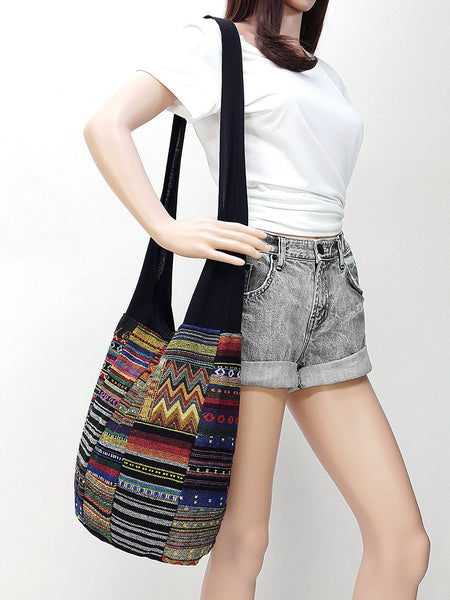 Woven Handbags Shoulder bag Sling bag Crossbody bag Patchwork