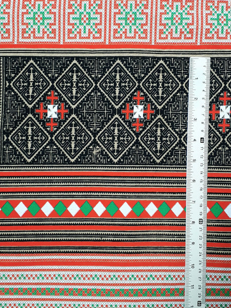 Thai Cotton Fabric Tribal Fabric Native Fabric by the yard Ethnic fabric Craft Supplies Hill Tribe Textile 1/2 yard Beige (TCF5)