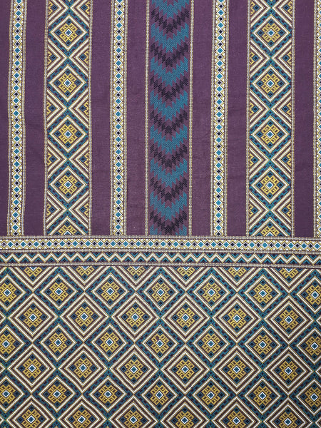 Thai Cotton Fabric Tribal Fabric Native Fabric by the yard Ethnic fabric Craft Supplies Hill Tribe Textile 1/2 yard Purple (TCF6)