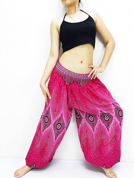 SRT@65 Women Harem Pants Yoga Pants Aladdin Pants Maxi Pants Boho Pants Gypsy Pants Rayon Pants Genie Pants Unique Trouser Hot Pink
