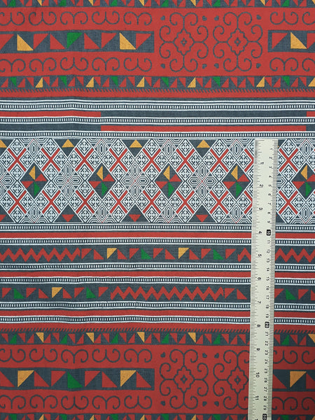 Thai Cotton Fabric Tribal Fabric Native Fabric by the yard Ethnic fabric Craft Supplies Hill Tribe Textile 1/2 yard Gray (TCF7)