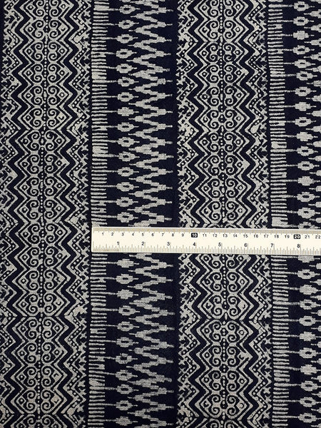 Thai Hand printed Fabric Natural Cotton Fabric by the yard Hmong Fabric Hill Tribe Fabric Vintage Fabric Batik Fabric Indigo - HFL9