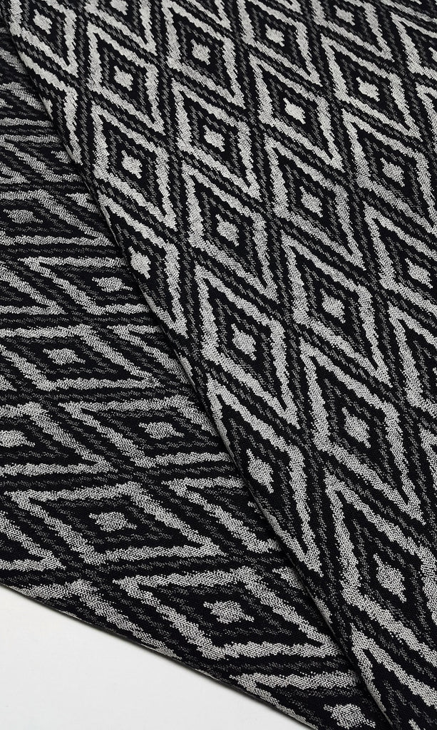Thai Cotton Fabric Native Fabric cotton print fabric by the yard Ethnic fabric Craft Supplies Natural Textile 1/2 yard Black (TCF9)