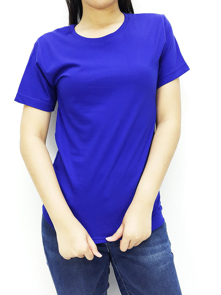 CTS69 100% Cotton Unisex Adult T Shirt Crew Neck V Neck Long Sleeves Solid Dark Blue, Cozzzy, HaremPantsThai
