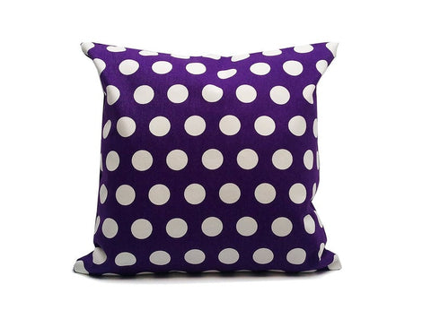 Violet Dots : ONE 18x18 inch Handmade Pillowcase Decorative pillow Covers- Canvas fabric - PCD3