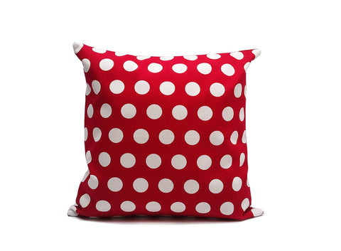 Deep Pink Dots : ONE 18x18 inch Handmade Pillowcase Decorative pillow Covers Canvas fabric - PCD2