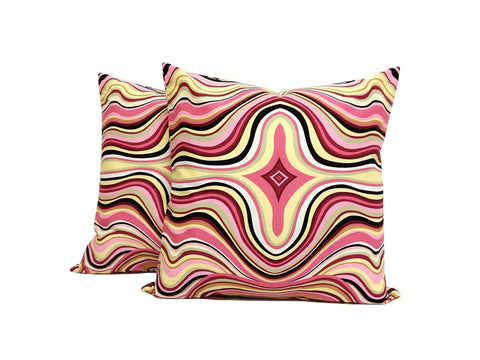 Sweet Pink : Set of TWO 16x16 inch Handmade Decorative pillow Covers- Cotton fabric - PCV3