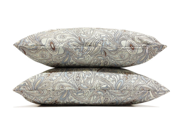 Paisley Set of TWO 16x16 inch Handmade Decorative pillow Covers- Cotton fabric - PCC38