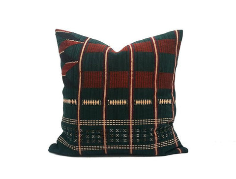 Hand Woven Cotton 16x16 inch Handmade Decorative pillow Covers, Tribal pillow, Vintage pillow, Unique pillow cover - PHW4