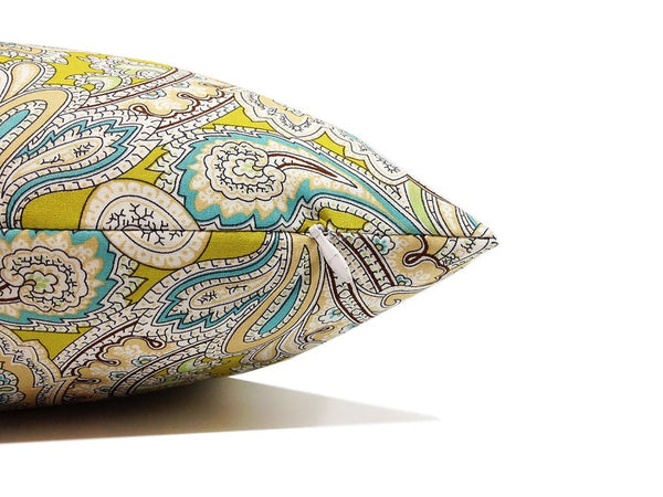 Paisley Set of TWO 16x16 inch Handmade Decorative pillow Covers- Cotton fabric - PCC39