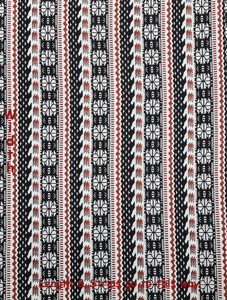 Thai Tribal Native Woven Fabric Cotton Textile 1/2 yard (WF125), VeradaCraft, HaremPantsThai