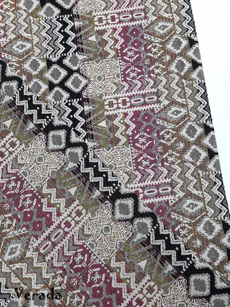 woven fabric tribal fabric native cotton fabric by the yard ethnic fabric aztec craft fabric craft supplies woven textile 1 2 yard wf127