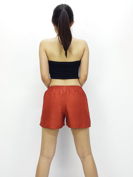 Rayon Shorts Bohemian Hippie Beach Plain Solid Color Burnt Orange (SC47), NaughtyGirl, HaremPantsThai