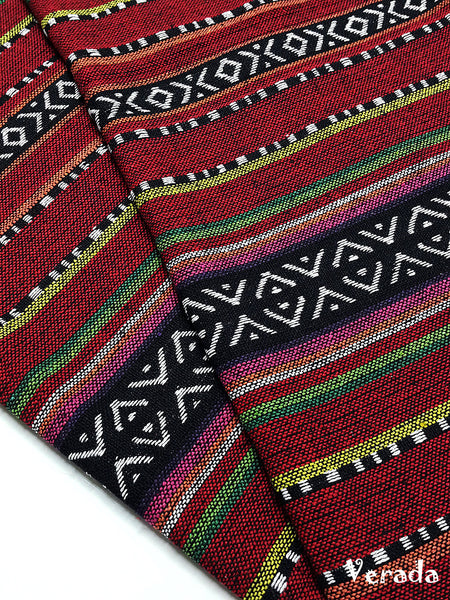 thai woven cotton fabric tribal fabric native fabric by the yard ethnic fabric aztec fabric craft supplies woven textile 1 2 yard wf132