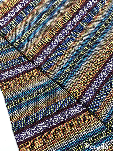 thai woven cotton fabric tribal fabric native fabric by the yard ethnic fabric aztec fabric craft supplies woven textile 1 2 yard wf133
