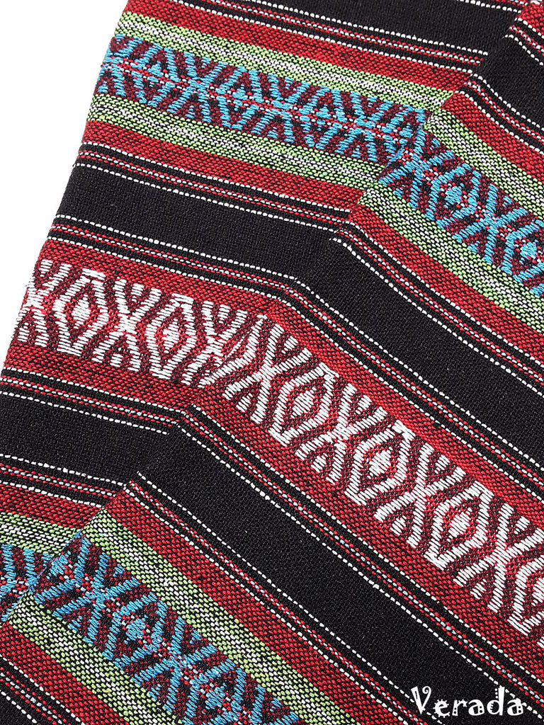 thai woven cotton fabric tribal fabric native fabric by the yard ethnic fabric aztec fabric craft supplies woven textile 1 2 yard wf134