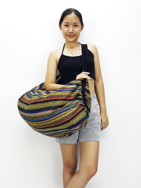 Woven Bag backpack Hobo Boho bag Shoulder Bag Crossbody Bag Tribal bag Gypsy bag Yellow, VeradaShop, HaremPantsThai