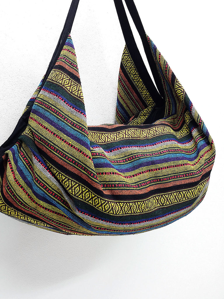 Woven Bag Backpack Hippie bag Hobo bag Boho bag Shoulder bag Tote Handbags Travel Bag Crossbody Bag Tribal bag Gypsy bag Yellow