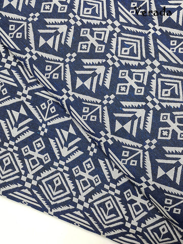 woven fabric tribal fabric native fabric by the yard ethnic fabric aztec fabric craft supplies woven textile 1 2 yard white blue wf140