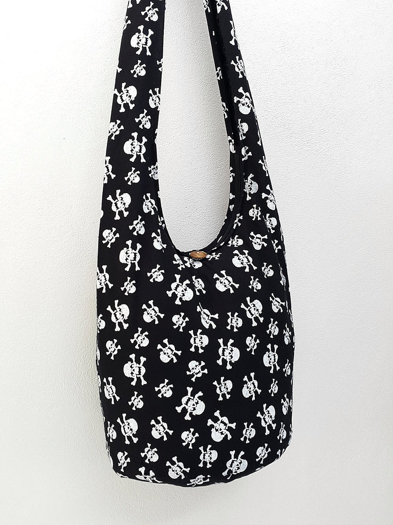 Women bag Handbags Cotton bag Skeleton Hippie Hobo bag Boho bag Shoulder bag Sling bag bag Tote bag Crossbody bag Purse Black