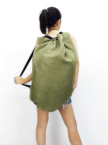 Cotton Bag Backpack Hippie bag Hobo bag Boho bag Shoulder bag Tote Handbags Travel Bag Crossbody Bag Tribal bag Gypsy Bag Green, VeradaShop, HaremPantsThai