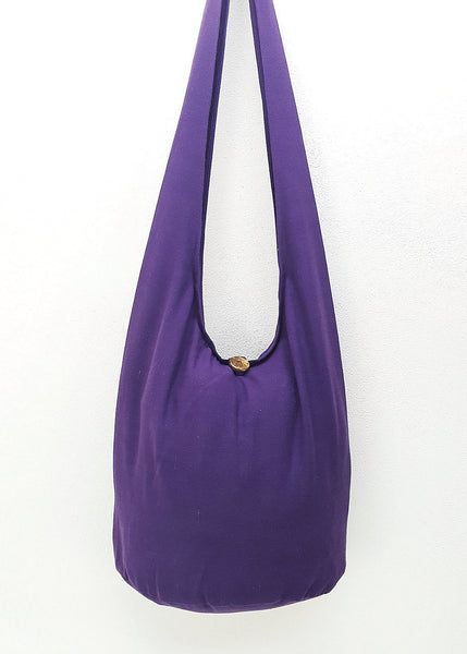 Cotton Handbags Hippie bag Hobo bag Boho bag Shoulder bag Sling bag Tote bag Crossbody bag Violet, VeradaShop, HaremPantsThai