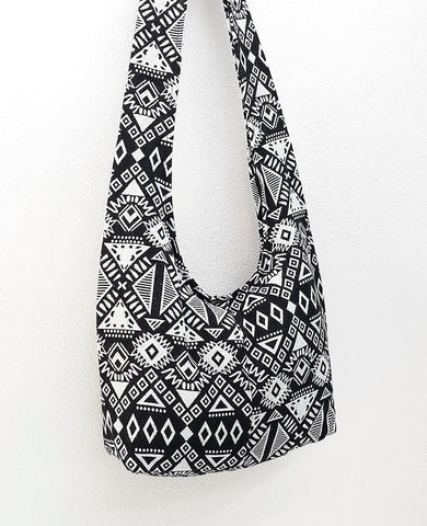 Woven Cotton Bag Hippie bag Hobo bag Boho bag Shoulder bag Sling bag bag Tote Crossbody bag Women bag Handbags Black White