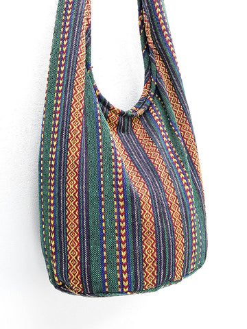 Woven Cotton Bag Hippie bag Hobo bag Boho bag Shoulder bag Sling bag bag Tote Crossbody bag Women bag Handbags Long Strap