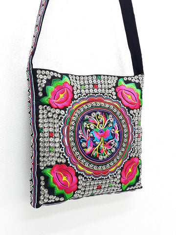 Thai Hill Tribe Bag Hmong Embroidered Ethnic Purse Woven Bag Hobo Bag Boho Bag Shoulder Bag Sling bag Bag Crossbody Bag Handbags