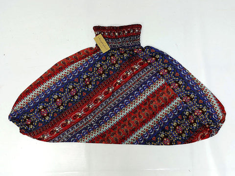 KIDS SIZE 3-4yrs Unisex Kids Handmade Rayon Harem Pants Bohemian Hippie Aladdin Miracle Dark Blue Red (HP96)