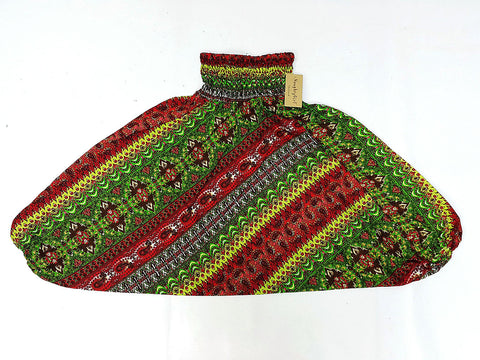 KIDS SIZE 5-6yrs Unisex Kids Handmade Rayon Harem Pants Bohemian Hippie Aladdin Miracle Red Green (HP97)