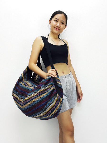 Woven Bag backpack Hobo Boho bag Shoulder Bag Crossbody Bag Tribal bag Gypsy School Bag, VeradaShop, HaremPantsThai