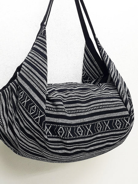 Woven Bag Backpack Hippie bag Hobo bag Boho bag Shoulder bag Tote Handbags Travel Bag Crossbody Bag Tribal bag Gypsy Black White