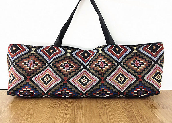 Thai Handmade Woven Yoga Mat Bag Sports Bags Pilates Mat (WF41), VeradaShop, HaremPantsThai