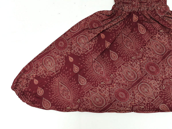 KIDS SIZE 7-8yrs Unisex Kids Pants Yoga, HP, Red, Paisley Pants Aladdin Pants Maxi Pants Boho Pants Gypsy Pants Rayon Clothing Paisley Red (HP188), Pants, NaughtyGirl, HaremPantsThai