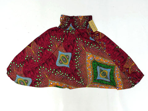 KIDS SIZE 5-6yrs Unisex Kids Handmade Rayon Harem Pants Bohemian Hippie Aladdin Miracle Pink Red (HP4)