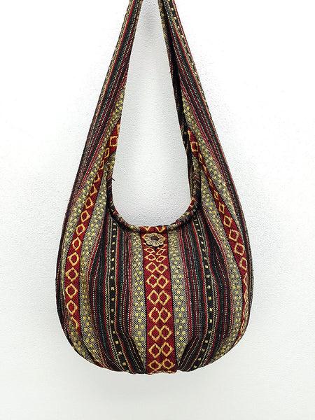 Handmade Woven bag Cotton bag Hobo Boho bag Shoulder Bag Everyday bag, VeradaShop, HaremPantsThai