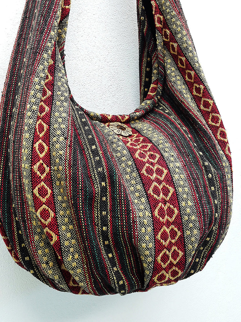 Handmade Woven Bag Handbags Tote bag Thai Cotton Bag Hippie bag Hobo bag Boho bag Shoulder bag Women bag Everyday bag