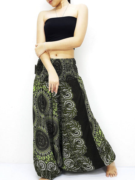 Harem Pants Women Yoga Pants Drop Crotch Aladdin Pants Maxi Pants Boho Pants Gypsy Pants Genie Jumpsuits Rompers Boho Pants Green (HP235)
