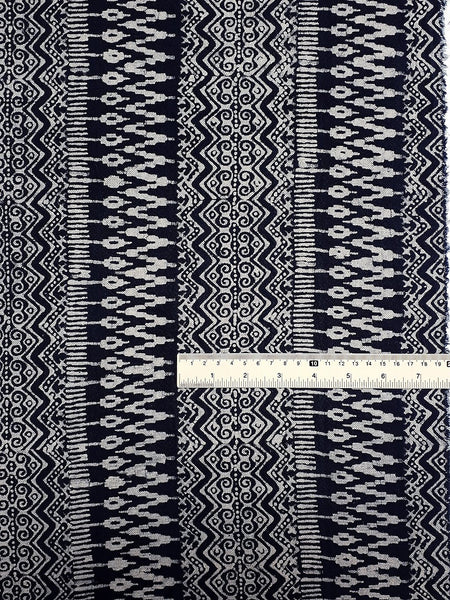 Thai Hand printed Fabric Natural Cotton Fabric by the yard Hmong Fabric Hill Tribe Fabric Vintage Fabric Batik Fabric Indigo Blue HFI15