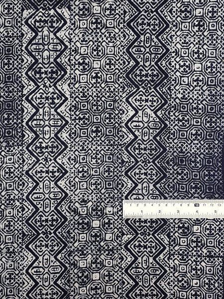 Thai Hand printed Fabric Natural Cotton Fabric by the yard Hmong Fabric Hill Tribe Fabric Vintage Fabric Batik Fabric Indigo Blue HFI4