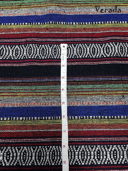 Thai Tribal Native Woven Fabric Cotton Textile 1/2 yard (WF95)
