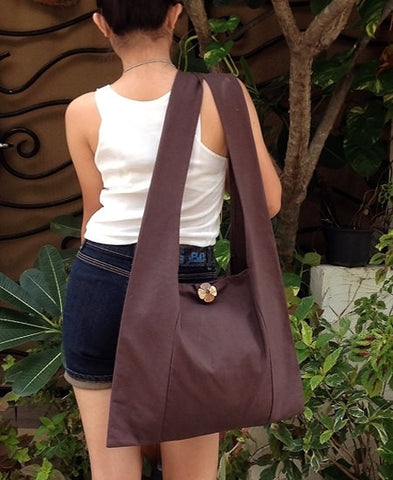 Canvas Handbags Shoulder bag Sling bag Hobo bag Boho  bag Tote bag Crossbody  Brown, VeradaShop, HaremPantsThai