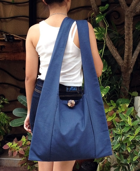 Handbags Canvas Bag Shoulder bag Sling bag Hobo bag Boho  bag bag Tote bag Crossbody Purse  Navy Blue
