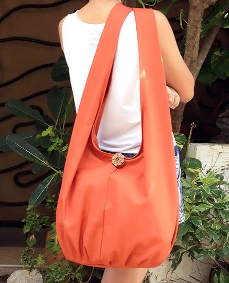 Canvas Handbags Shoulder bag Sling bag Hobo bag Boho  bag Tote bag Crossbody Burnt Orange, VeradaShop, HaremPantsThai