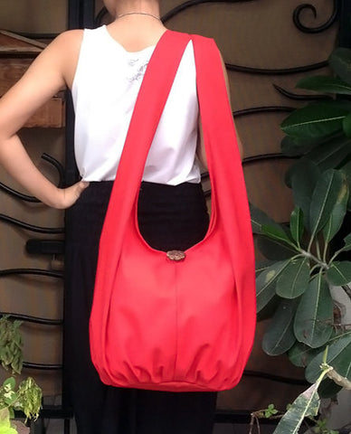 Canvas Handbags Shoulder bag Sling bag Hobo bag Boho  bag Tote bag Crossbody  Red, VeradaShop, HaremPantsThai