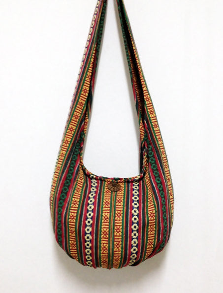 Woven Cotton Bag Hippie bag Hobo Boho bag Shoulder bag Sling bag Gypsy bag Tote Crossbody bag Women bag Handbags Long Strap (WF31)